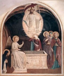 800px-Fra_Angelico_-_Resurrection_of_Christ_and_Women_at_the_Tomb_(Cell_8)_-_WGA00542