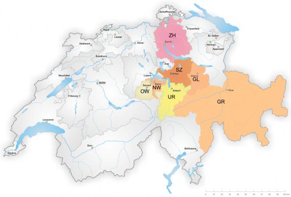 Karte Bistum Chur